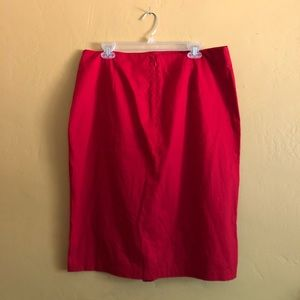 8b658ac606 Who What Wear Skirts - Lipstick Red Frilly Fitted Sexy Business Skirt
